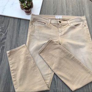 Current Elliot Tan Polka Dot Pants #475